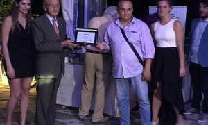 AronaCalcio Presidente ElioFortis DG AntonioNotte Premiazione Vittoria Campionato
