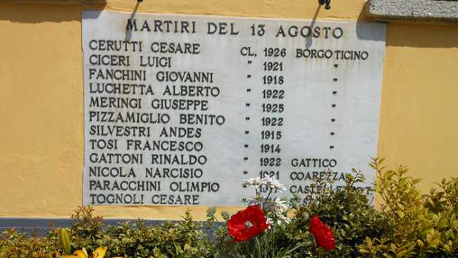 Borgo Ticino targa Martiri