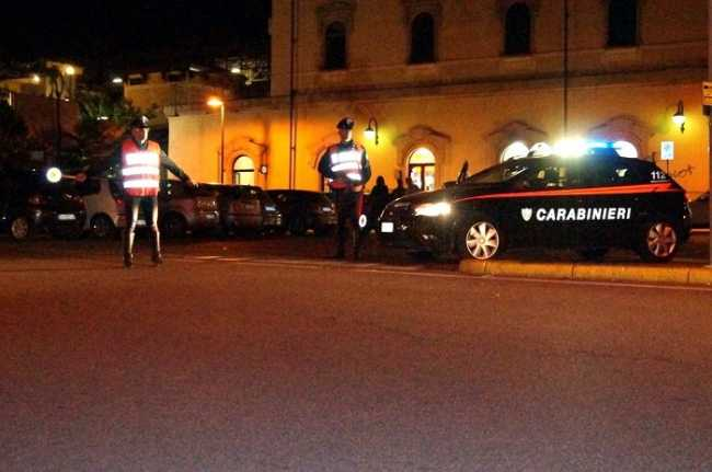 Carabinieri movida Arona