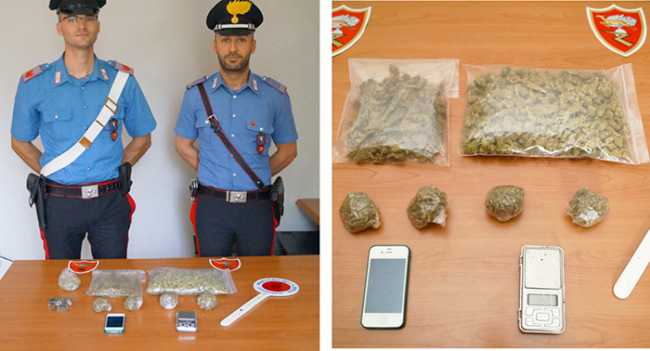 carabinieri arona droga