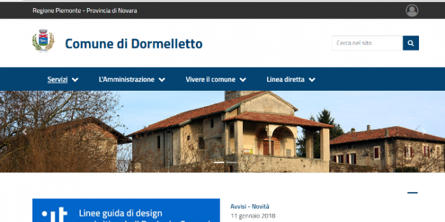 screenshot sito