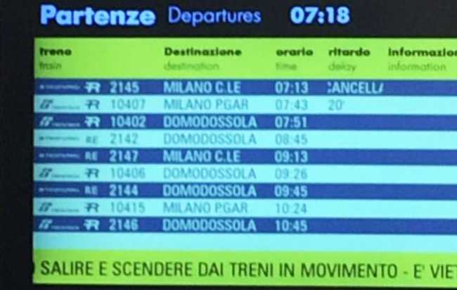 treno cancellato