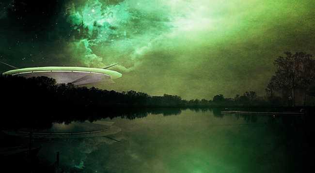 ufo lago verde