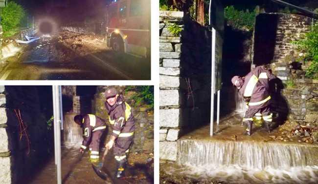 vigili fuoco danni acqua arona